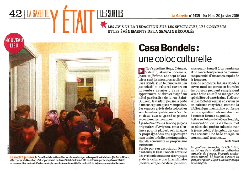 Article Gazette Neon Obscur